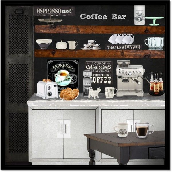 Home Coffee Bar Design Ideas: At Home Coffee Bar By Obriendeb812 On Polyvore Featuring