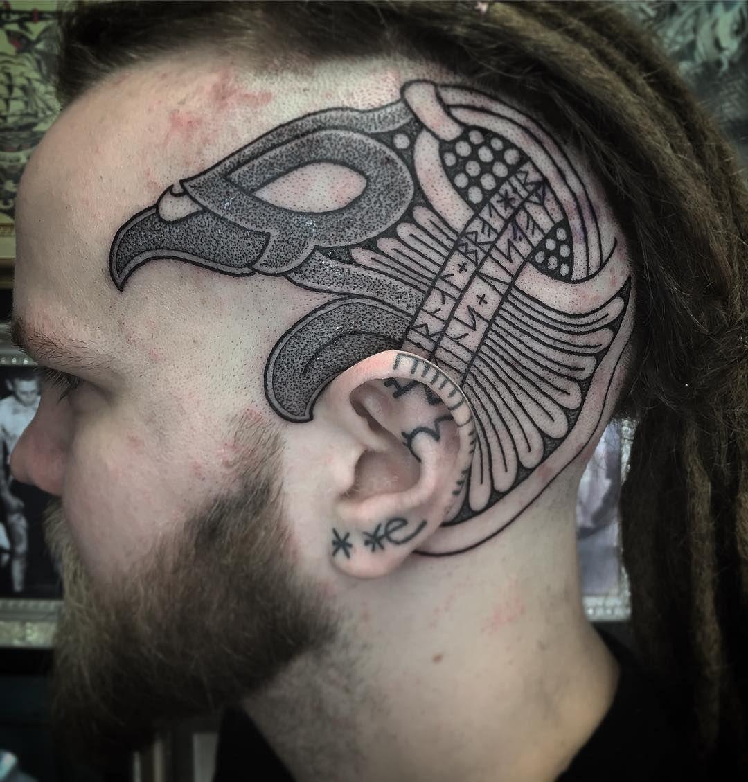 Ragnar Lothbrok Raven Tattoo