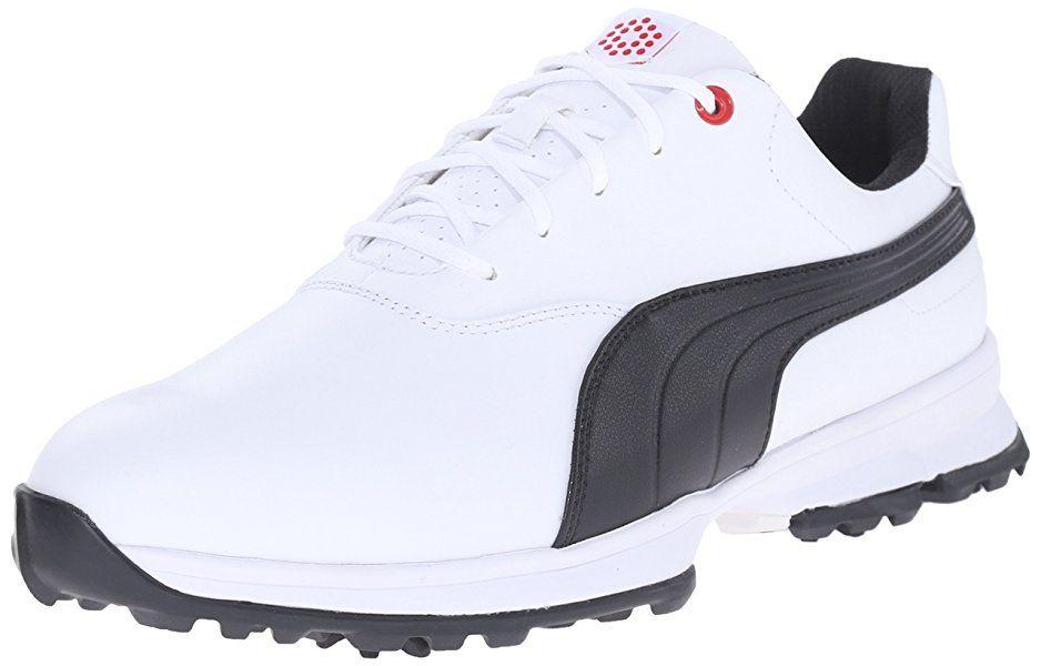 Amazon.com | PUMA Men's Ace Golf Shoe, White/Black/High Risk