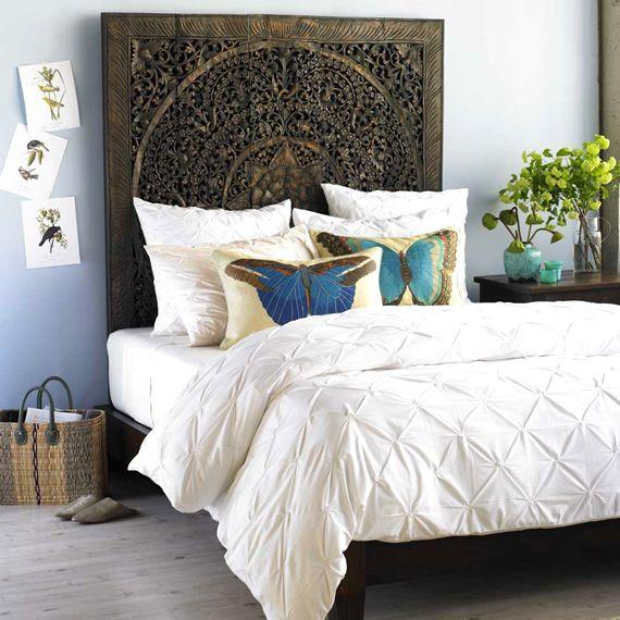 En este dormitorio se utilizó una paleta de colores azul, verde y ...