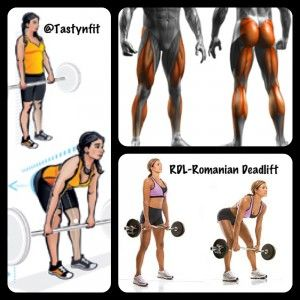 RDL-Romanian Deadlift. A great workout move for your lower back ...