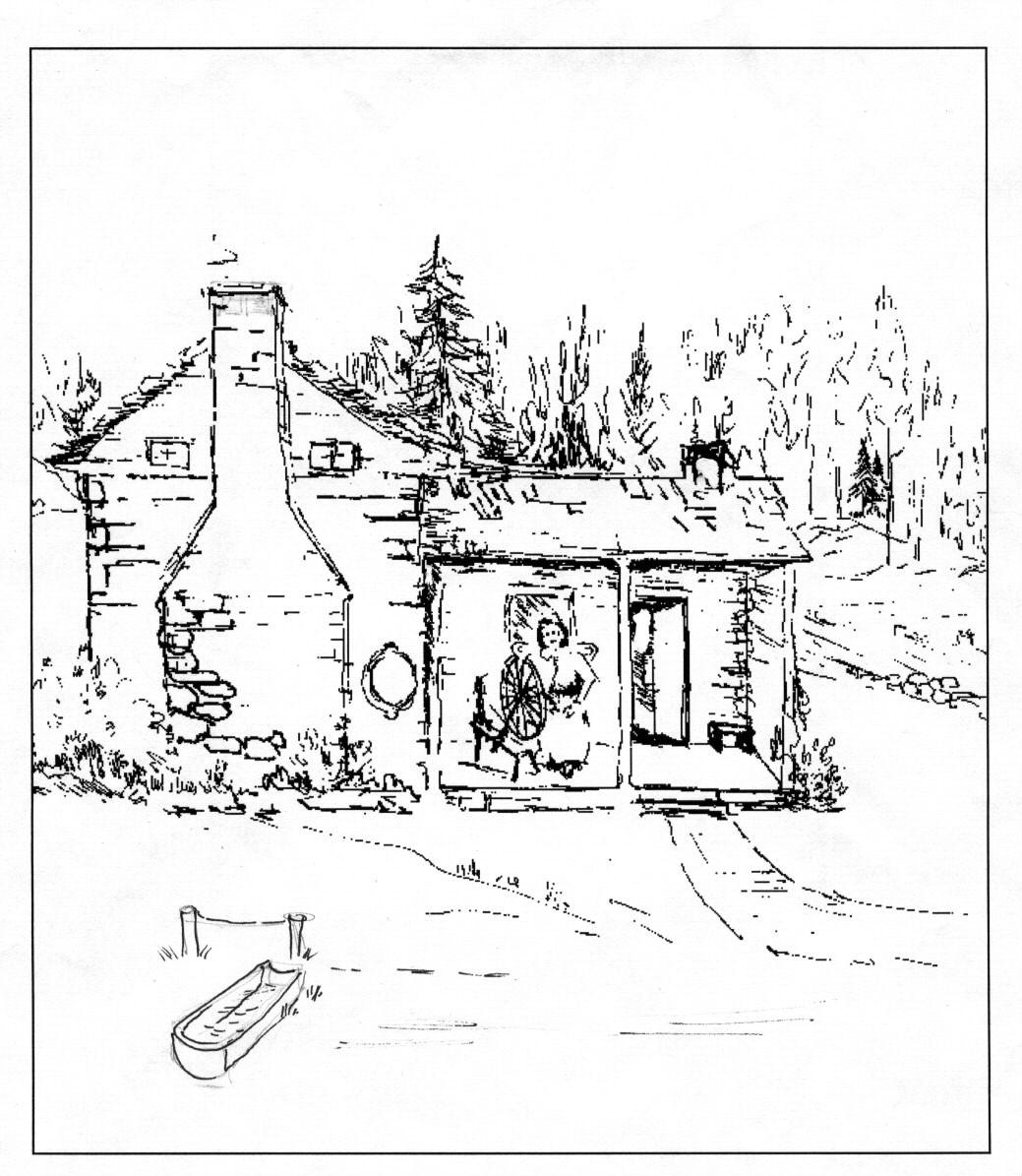 Line Drawing Of Barn