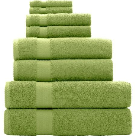 Mainstays Quick Drying 8 Piece Bath Towel Set Walmart Com 31 04