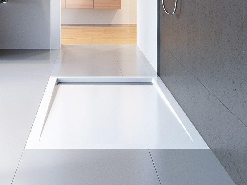 HSK Acryl-Duschwanne super-flach mit integrierter Ablaufrinne schmal - badezimmer regal schmal