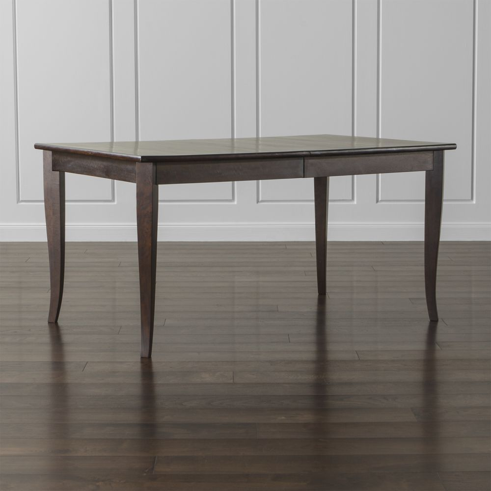 Metra extension dining table crate and barrel - Cabria Dark Extension Dining Table Crate And Barrel