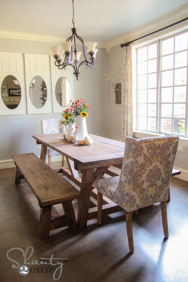 Ordinaire Chic Dining Room Table Bench Diy 40 Bench For The Dining Table Shanty 2 Chic