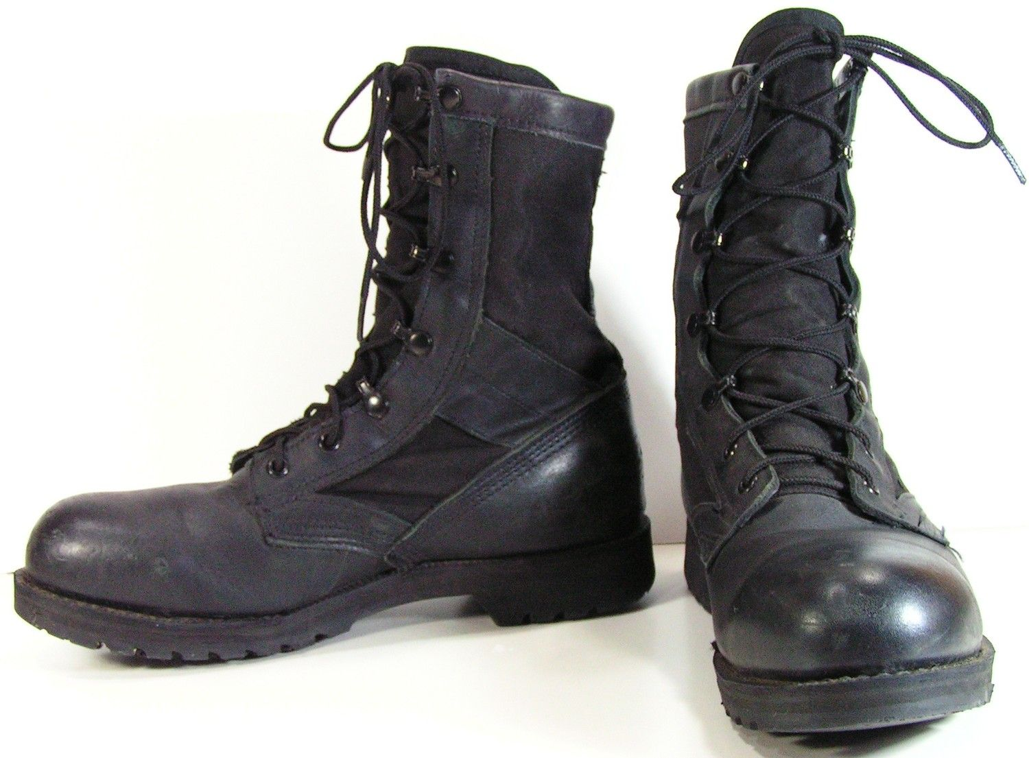 Black Military Combat Boots - Cr Boot