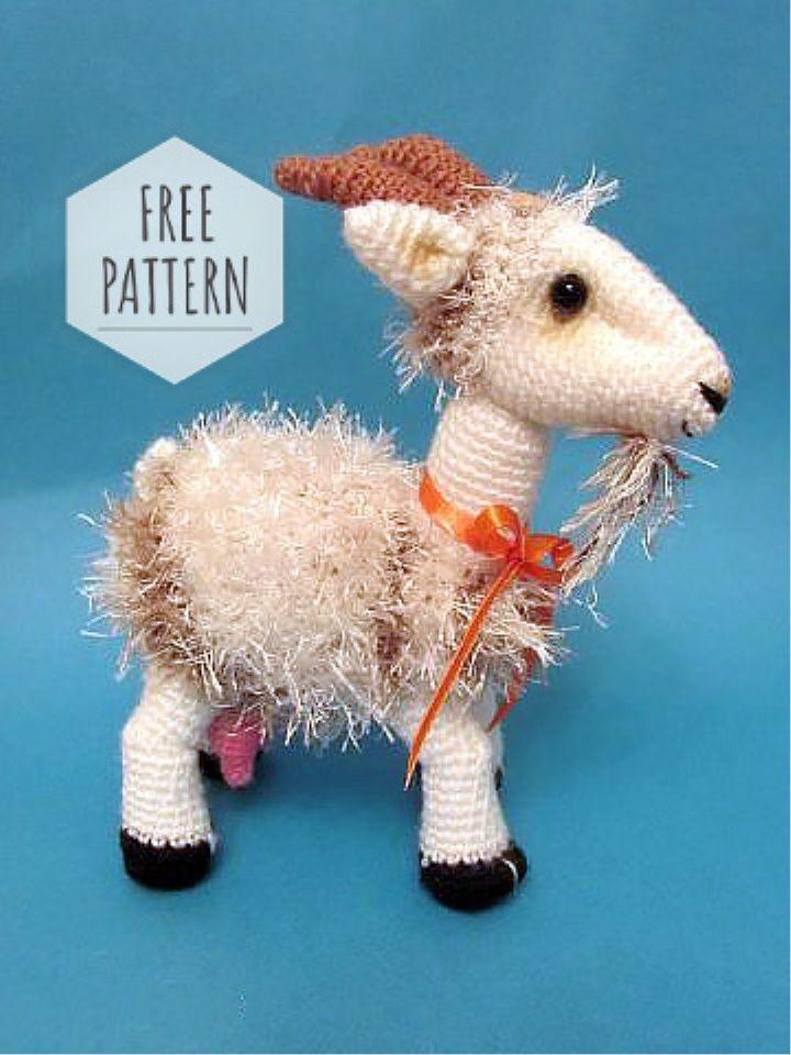 Crochet Goat PatternFriendly Goat Crochet Goat Crochet | Etsy | 960x720