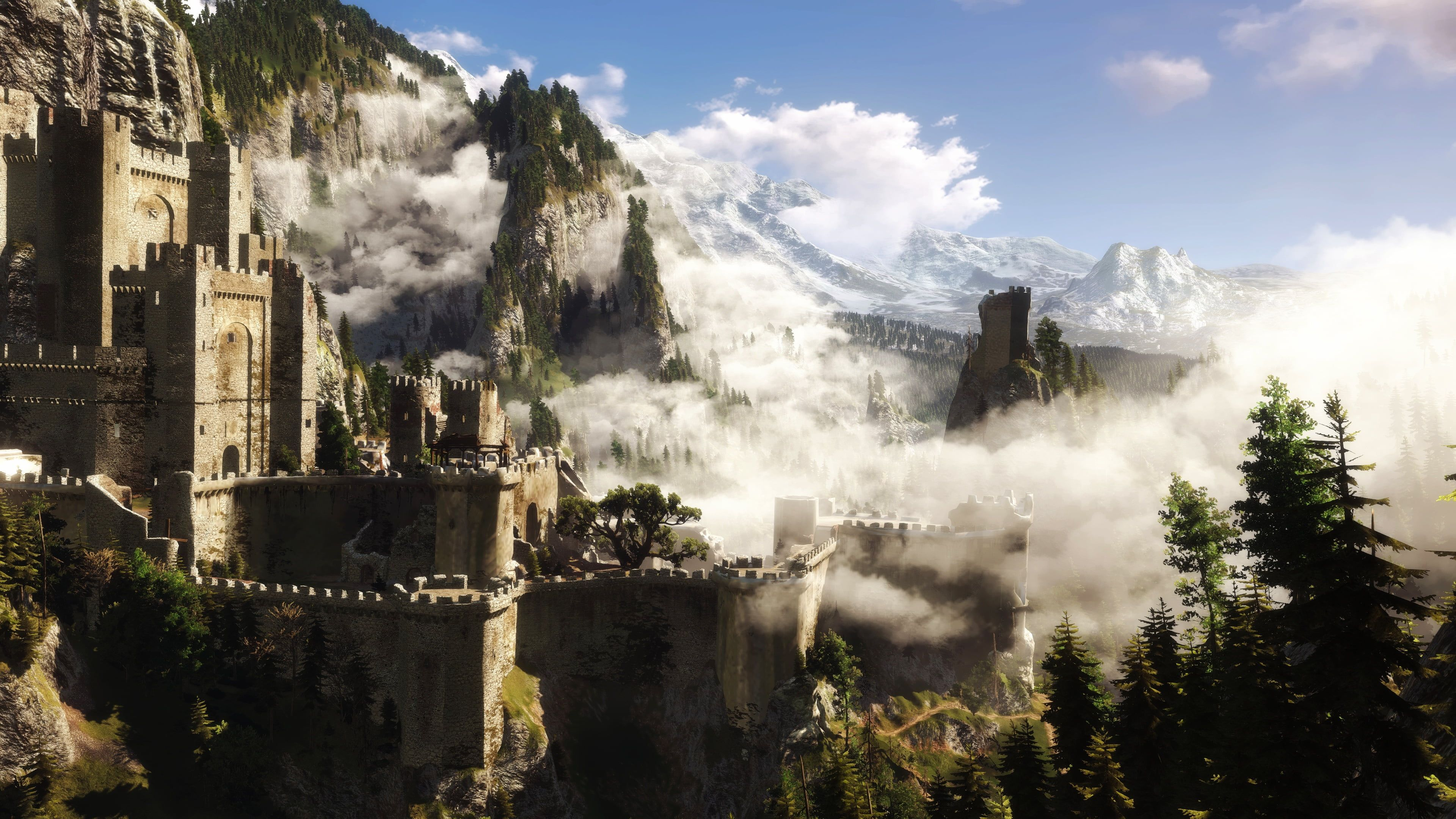 The Witcher The Witcher 3 Kaer Morhen 4k Wallpaper Hdwallpaper Desktop In 2020 The Witcher 3 The Witcher The Witcher Wild Hunt