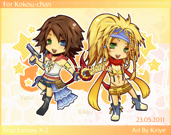 Chibi Yuna and Rikku by Kiriye on DeviantArt