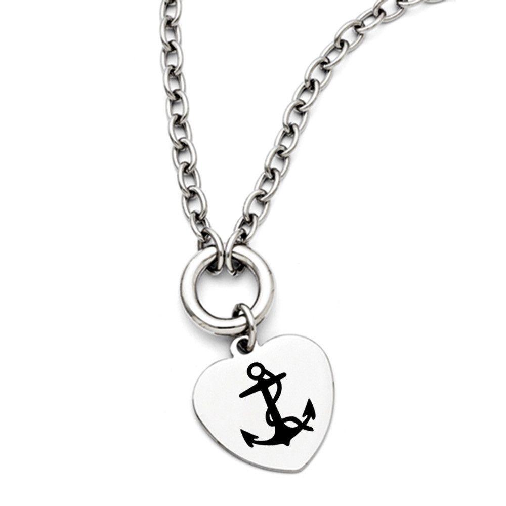 Delta gamma symbol stainless steel heart necklace with gamma delta gamma symbol stainless steel heart necklace with buycottarizona Gallery