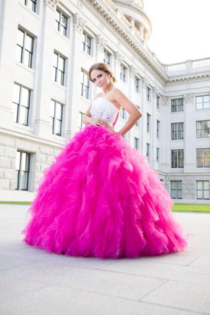 Princess Puffy Prom Dresses Corset