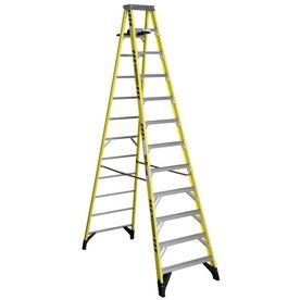 Werner 7300s 12 Ft Fiberglass Type 1aa 375 Lbs Capacity Step Ladder Lowes Com Step Ladders Fiberglass Ladder