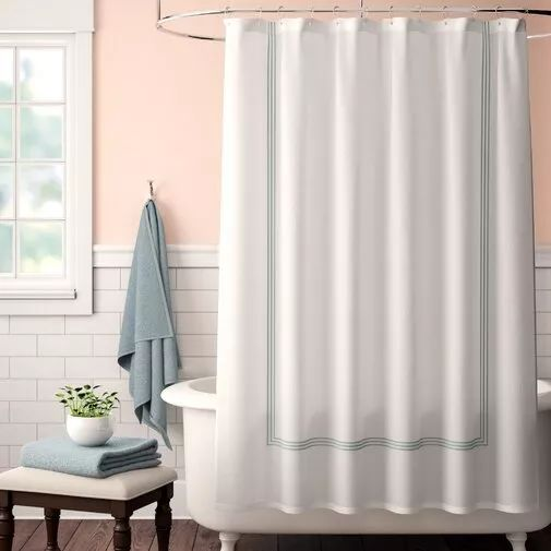 How To Hang The Bathroom Shower Curtain With Images Modern