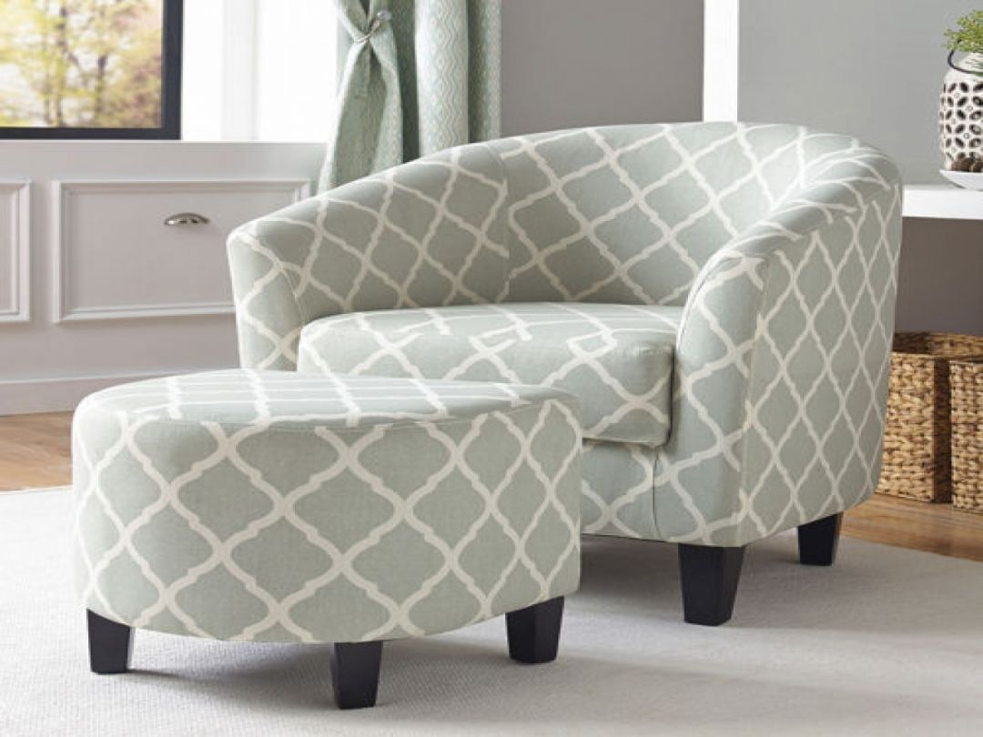 Trendy Accent Chairs With Ottomans Home Furniture On Home Decoration  Consept From Accent Chairs With Ottomans