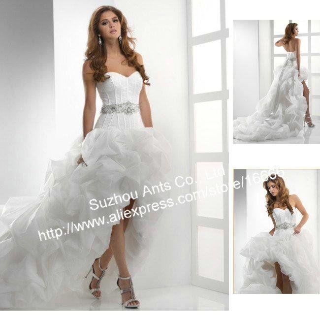 Bridal Gowns Short Front Dress