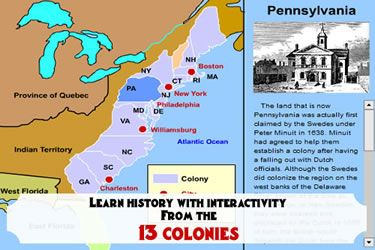 the mrnussbaumcom 13 colonies section includes interactive maps colony profiles colony maps regional profiles historical events colony histories