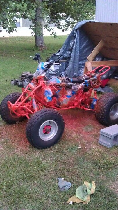 Stripped off body and painted the frame