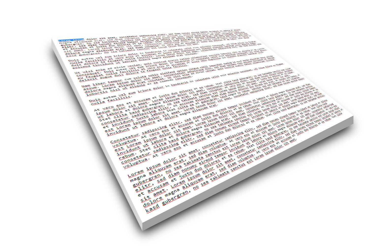 Write text notes on blank screen | Download App: markllet.de/app/nora.html