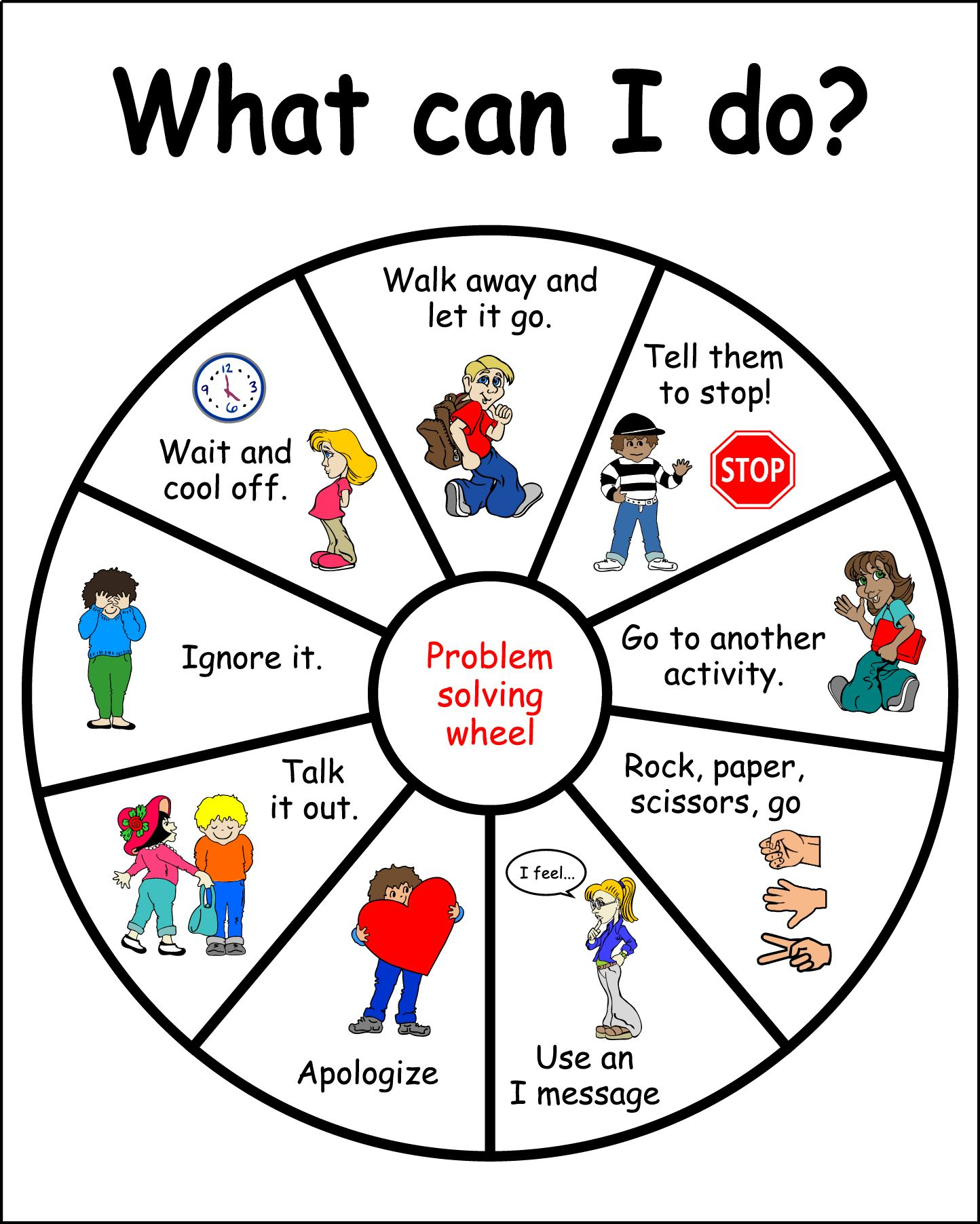 What Can I Do? problem solving wheel -