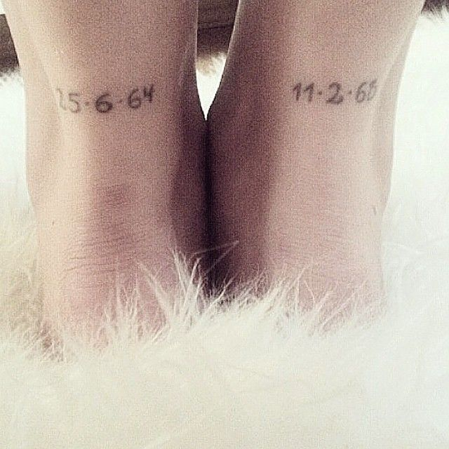 101 Best Foot Tattoo Designs And Ideas With Significant: Important Dates Or Coordinates On The Back Of The Ankle