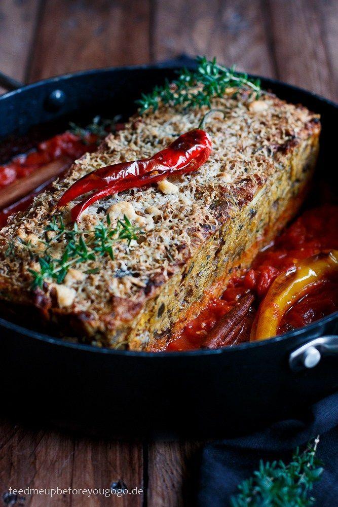 Für das vegetarische Weihnachtsmenü: Nussbraten mit Kürbis, Maronen und Aprikosen