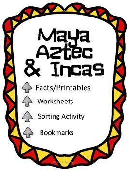 mayas aztecs incas classroom ideas pinterest social studies rh pinterest com Aztec and Maya Government Venn Diagram Aztec and Inca Comparison Chart