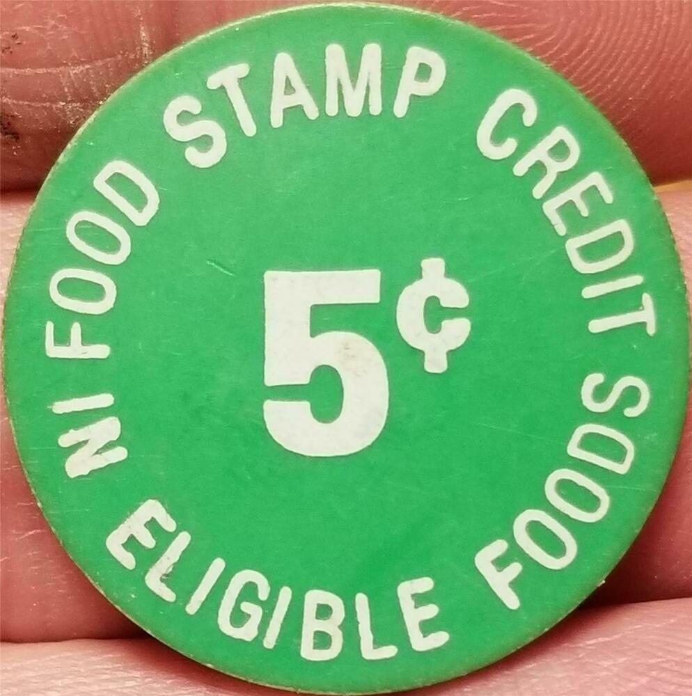 Vtg Old Token Black Giant Foods 5 Cents Food Stamp Credit Eligible Foods Giant Food Food Token