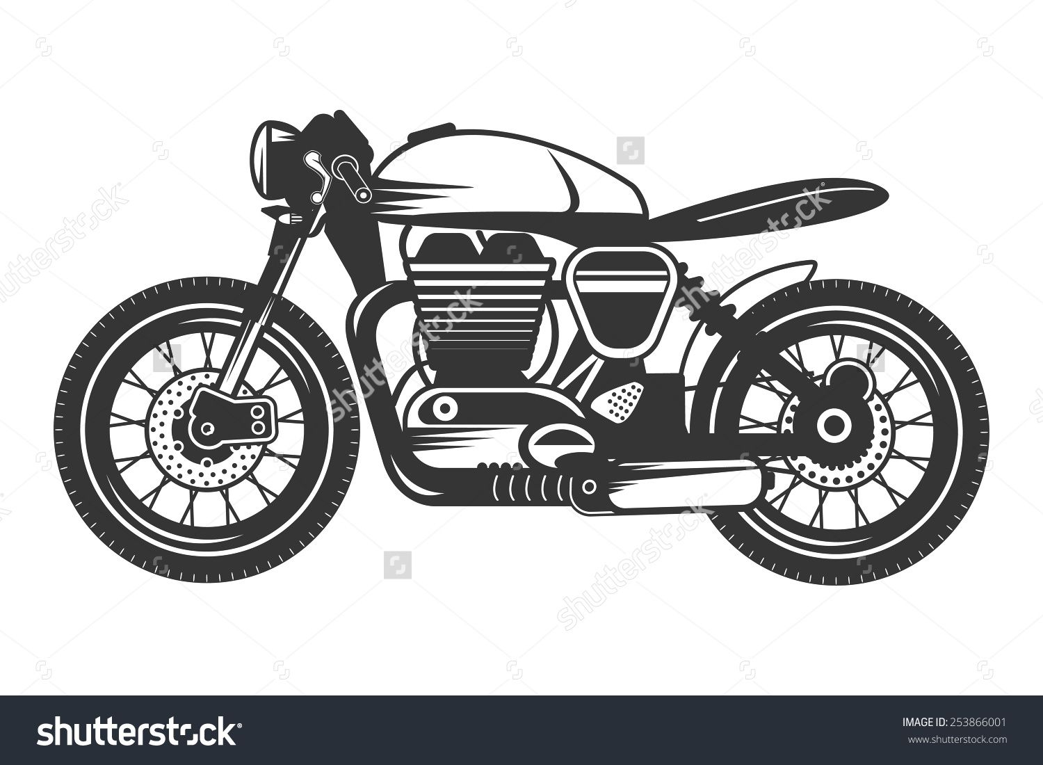 Cafe Racer Outline Google Search With Images Cafe Racer