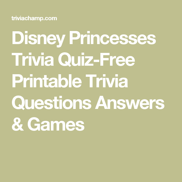 photograph regarding Printable Trivia Questions identified as Disney Princesses Trivia Quiz-Totally free Printable Trivia