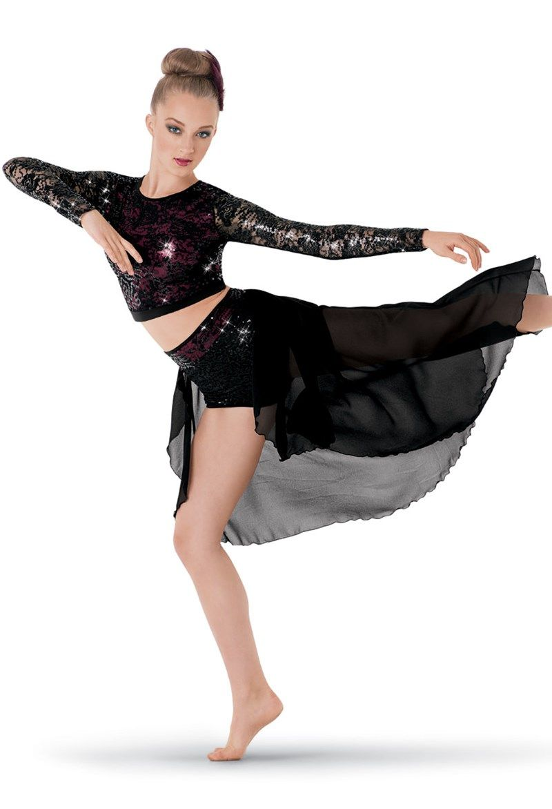 weissman 2 piece long sleeve sequin costume dance. Black Bedroom Furniture Sets. Home Design Ideas