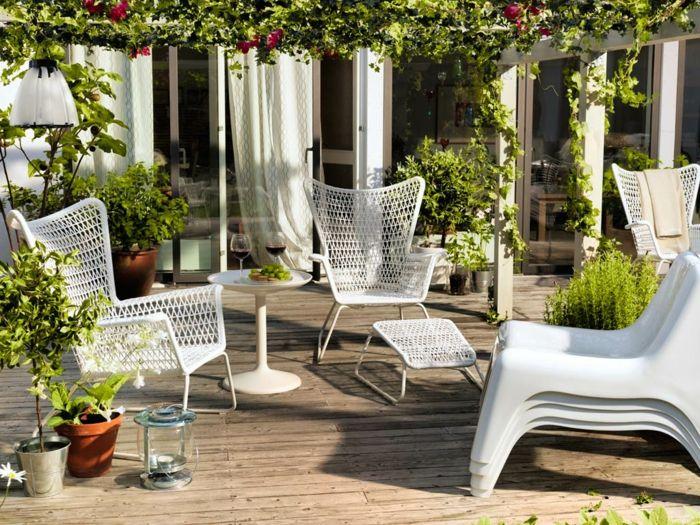 ikea gartenmöbel outdoor sessel fußhocker weiß beistelltisch - gartenmobel weis rattan