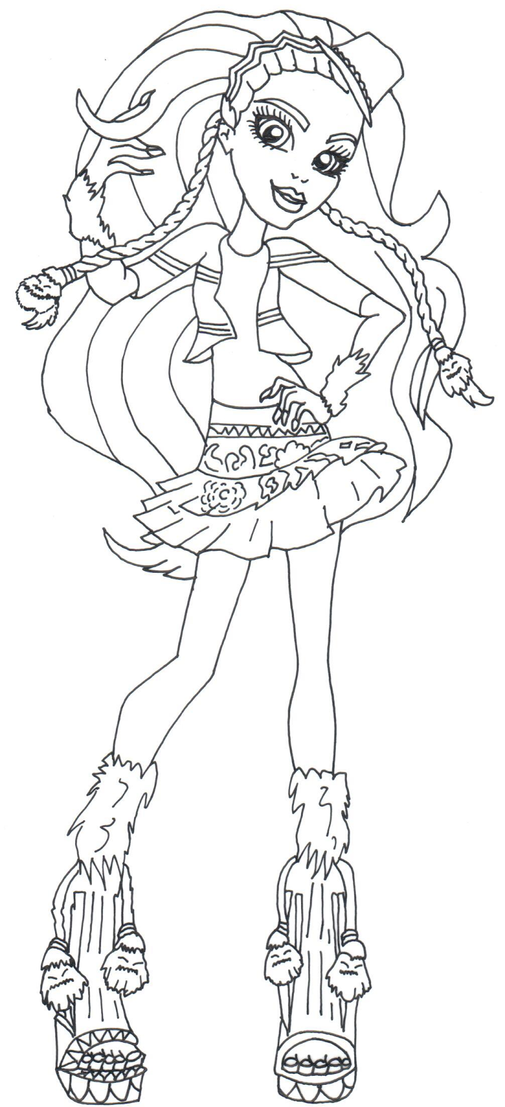 marisol coxi monster high coloring pages png 731 1600 monster