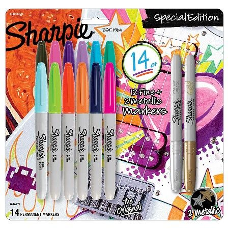 Sharpie Special Edition Permanent Markers Fine Metallic Tip