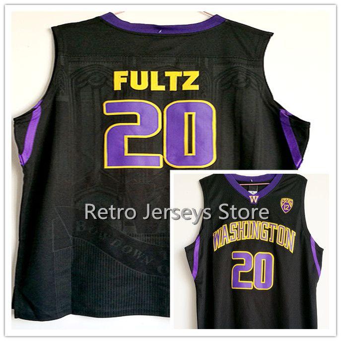 889bcab94  20 Markelle Fultz Purple Black White Washington Huskies 20 Jersey Stitched  With Player Name Retro