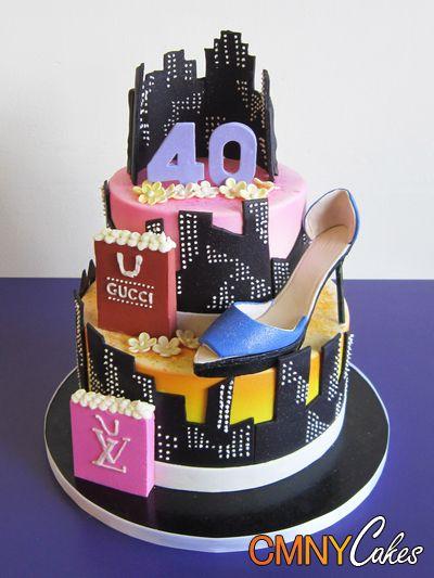 Astonishing 40Th Birthday New York City Themed Cake Cmny Cakes Themed Funny Birthday Cards Online Elaedamsfinfo