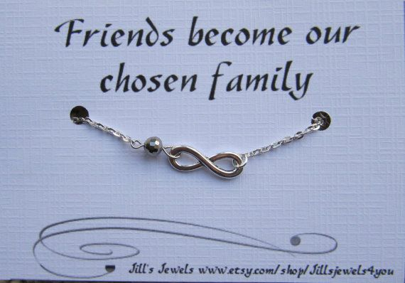 Frienship Infinity Charm Bracelet a Crystal and Friendship ...