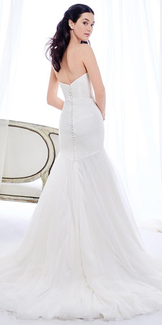Ella Rosa BE396 | modest satin mermaid style gown | english net ...