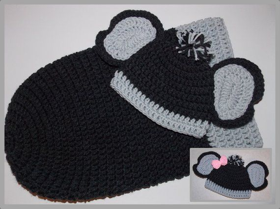 850a91431 Baby Elephant Hat & Cocoon Pattern - Boy or Girl ... Instant ...