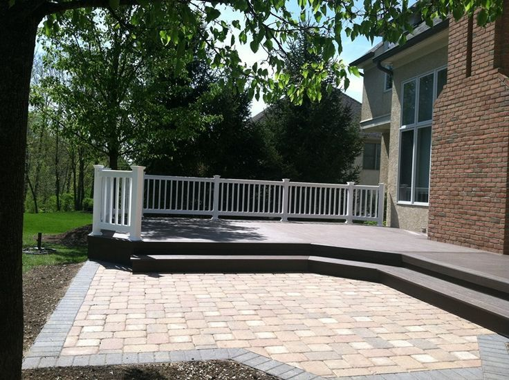 Archadeck Of Columbus TimberTech XLM Walnut Grove Deck Vinyl Rail Dublin.  Find This Pin And More ...