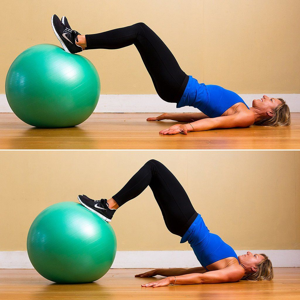 Tighten Up Your Tush With 3 Exercise-Ball Moves #exerciseball