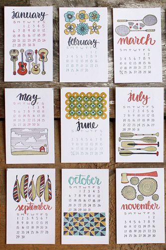 2013 Calendar Funny Unique Calendars Calendario Manualidades