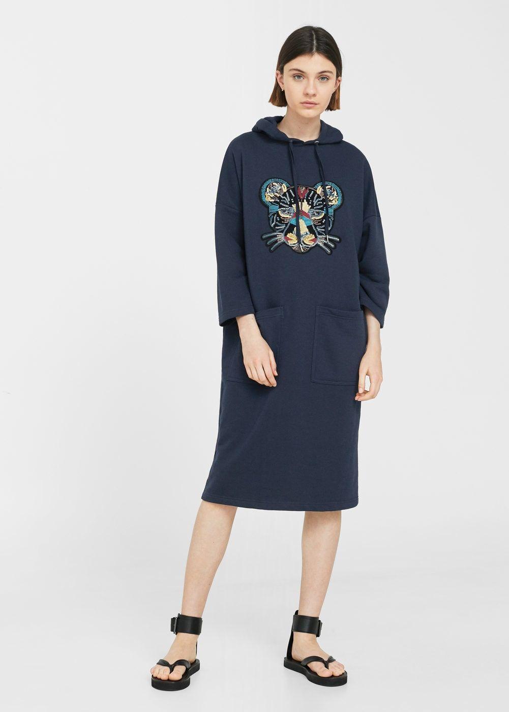 85ce6d797a8c Платье-свитшот с нашивками - Платья - Женская | Mango | Одежда ...