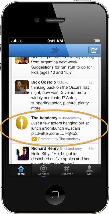 Twitter Brings Promoted Tweets and Accounts to Mobile Apps