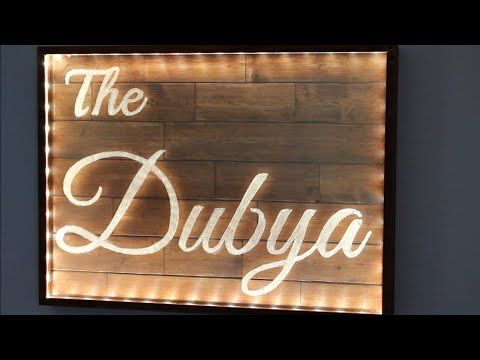 A DIY project making a LED Lit acrylic sign  Job done using