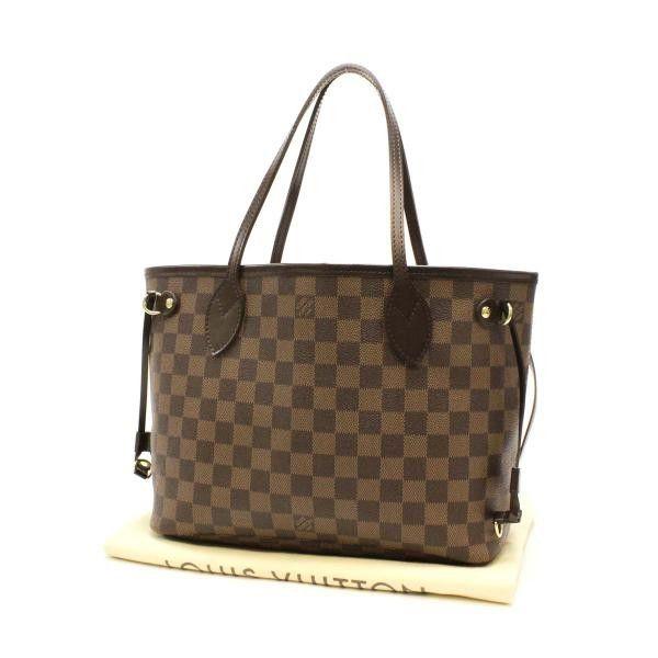 3a6b2e55cb0 Louis Vuitton Neverfull PM Damier Ebene Shoulder bags Brown Canvas N51109