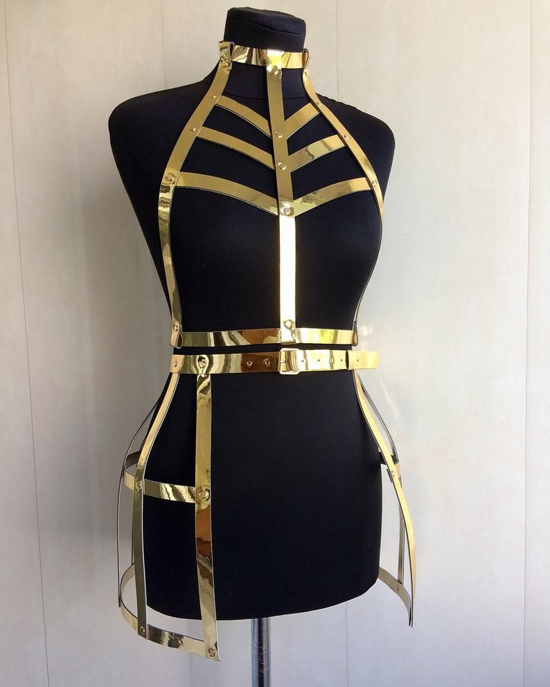 Photo of Space harness set/suit for photo shoot/set for dancing/Body harness/erotic costume/bdsm/harness lingerie/sexy lingerie/adjustable harness/