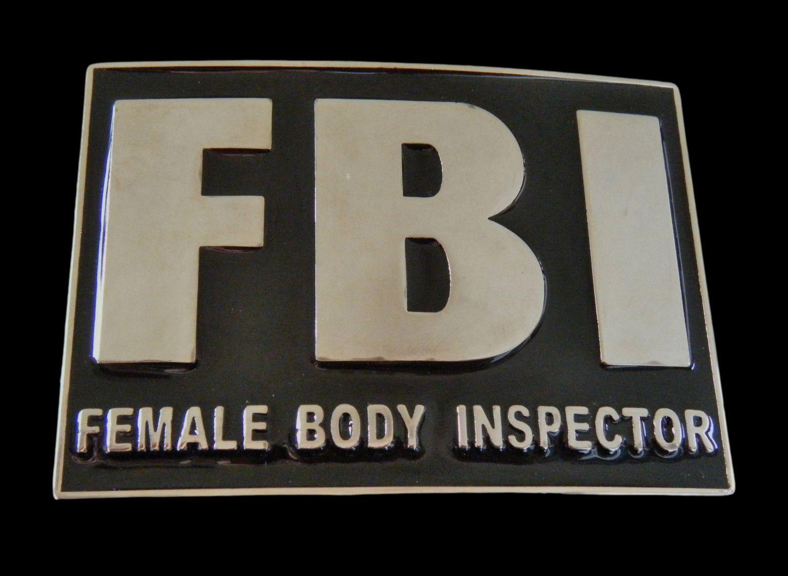 Fbi Female Body F B I Inspector Belt Buckle Buckles