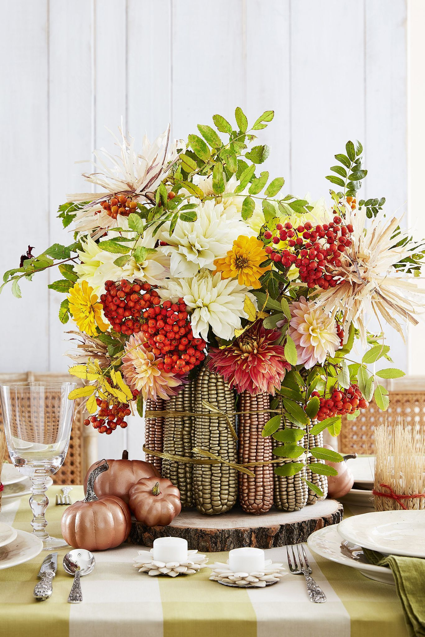51 DIY Fall Centerpieces That Go Way Beyond Pumpkins and Gourds images