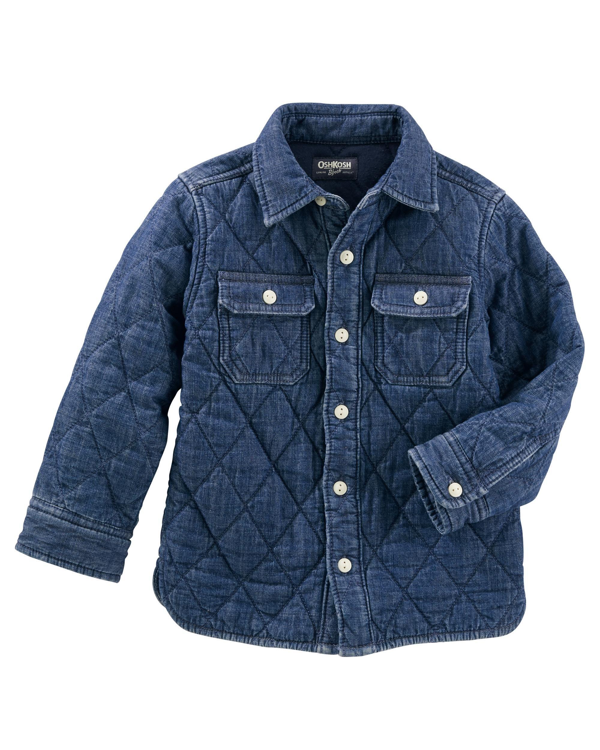 Quilted Denim Jacket Boy Outerwear Denim Jacket Jackets [ 2500 x 2000 Pixel ]